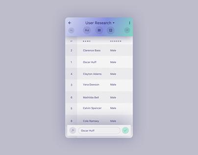 Spreadsheet App