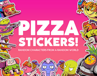 Character Design Vol. 3 Pizza Stickers