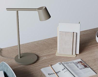 3D model - desk set