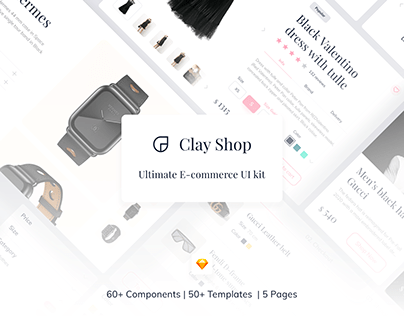 Clay Shop E-commerce UI Kit
