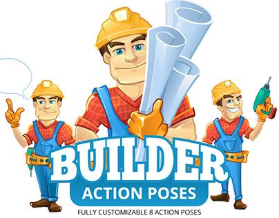 Builder mascot design