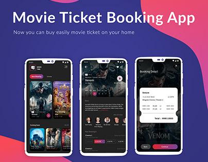 Buy Movie Tickets Online .Movie Time App UI/UX Concept