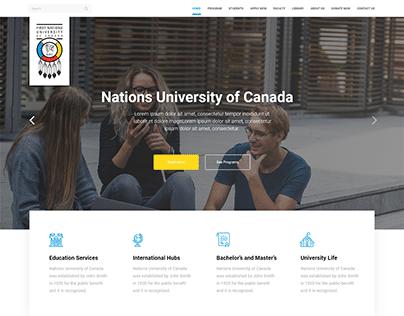 Nations University of Canada - Website
