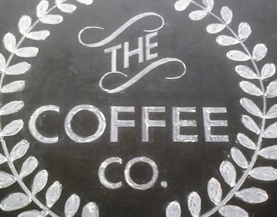 Hand lettering 01- THE COFFEE CO. logo