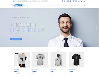 Shop Wide Page - Edge WordPress Theme