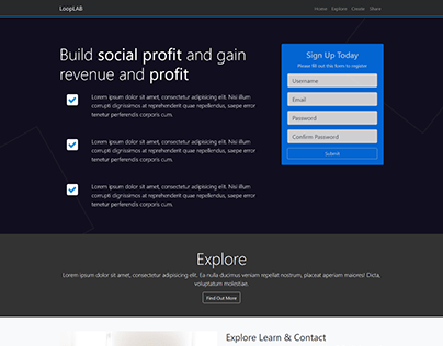 Web Design   LoopLAB fully Responsive Website  