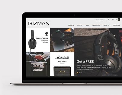 GIZMAN Lifestyle showroom   Web concept