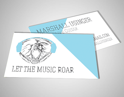 Let the Music Roar - Business Cards