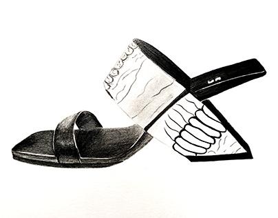 Footwear Sketches and Renders