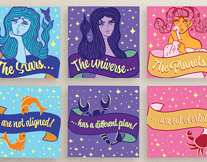 Horoscope Greeting Cards and Merch