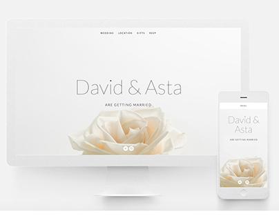 Web | David & Asta Luxury Wedding site