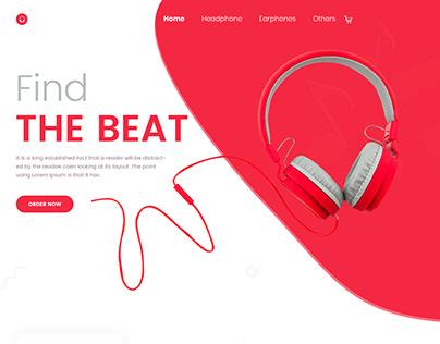 Headphone-Landing Page