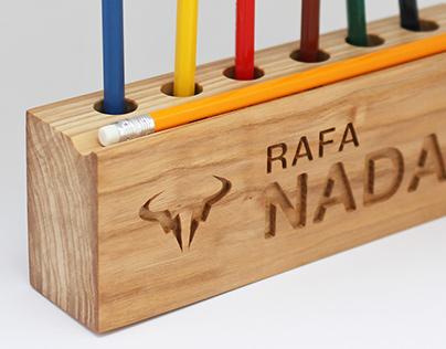 Wooden desk organizer, pencil holder