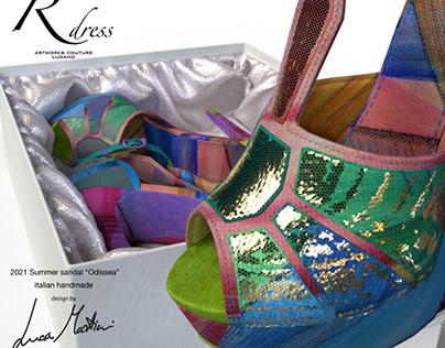 Rdress couture demo silk sandal