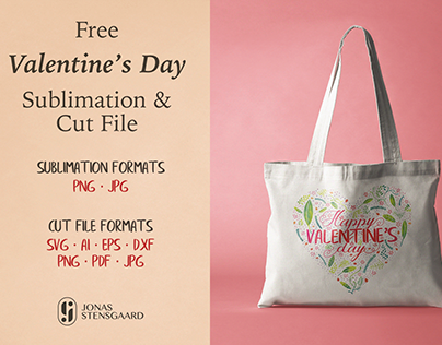 Free Valentine's Day Sublimation & Cut File