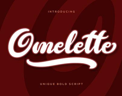 Omelette - Unique Bold Script Font
