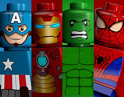 C4D Lego Superheros