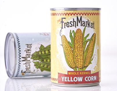 The Fresh Market Canned Vegetables Packaging Design