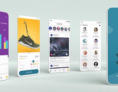 influencer app design