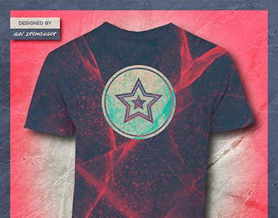 Spray Painted Star Burst Tee | Original T-Shirt Design
