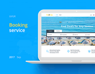 Booking service | Website Design