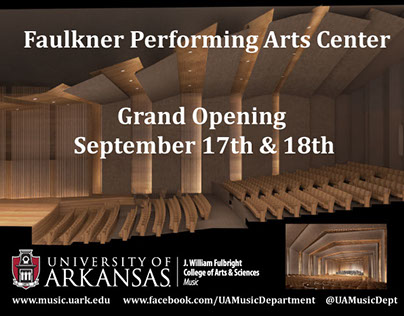 Faulkner Performing Arts Center Ad