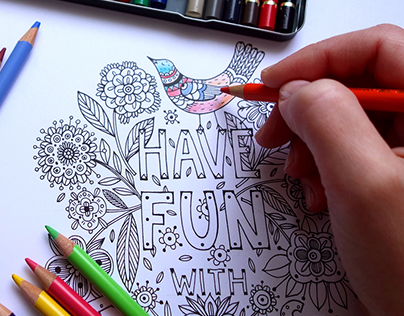 """Adult coloring book - """"swears to say to your ex"""""""