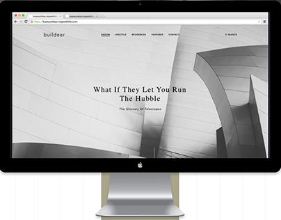 Buildeer Minimal Web Design