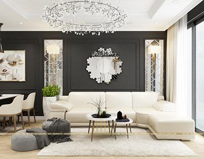 Thiết kế nội thất CC Park Hill 7 Times City – Chị Huyền