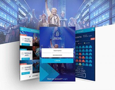 WTC Cinema Mobile App UI Design