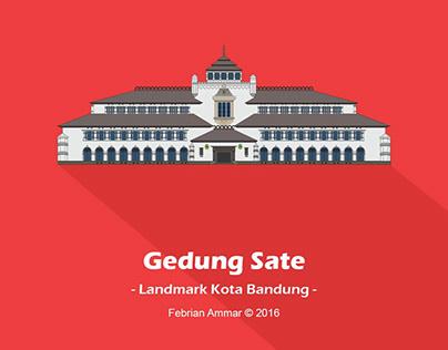 Landmark Kota Bandung (Flat Design)