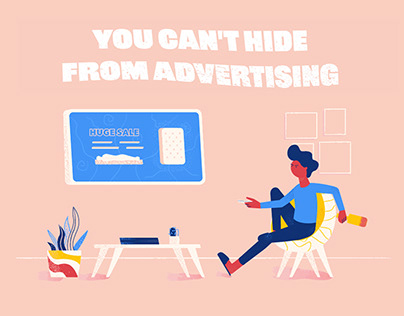 You Can't Hide From Advertising (gif animation)