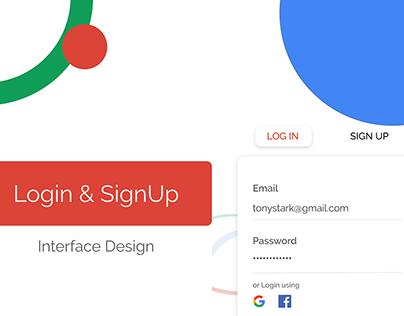 Mobile UI/UX: Material UI Design Kit | Login and SignUp