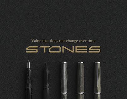 STONES (Fountain pen / Brush pen)