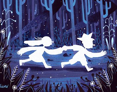"Children's book cover design ""Igle and Perkus"""