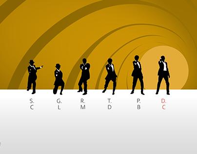 Artwork for James Bond Franchise (with Daniel Craig)