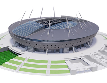 Zenit Arena. Interactive infographic for TASS
