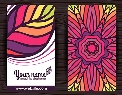New design of business cards