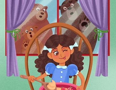 Goldilocks and the Three Bears (commission)