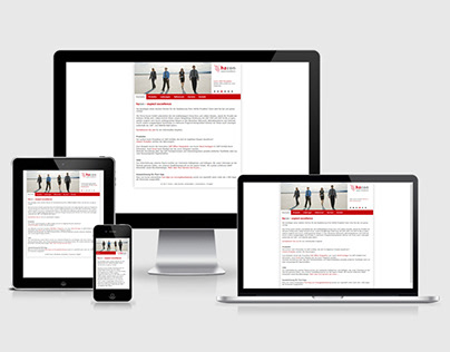 Responsive website for a german company