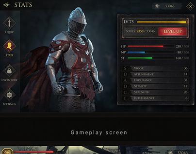 """Dark Souls Mobile"" Concept UI"