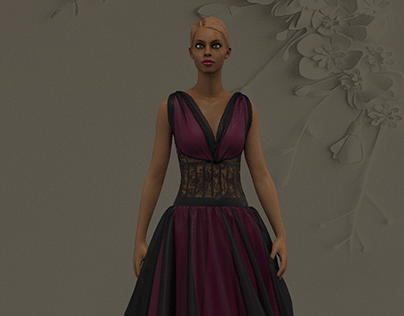 CHIFFON-3d dress
