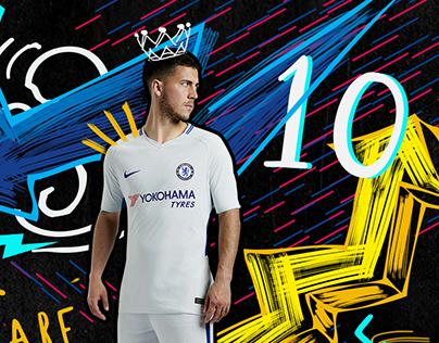 Nike inspired Chelsea FC kit advertisement