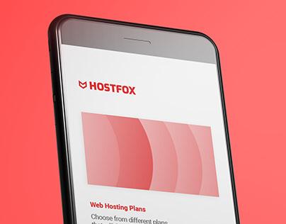 Hostfox | Brand Identity | UI design