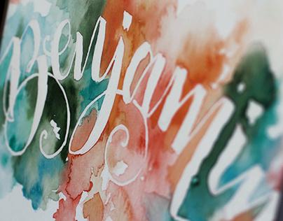 Benjamin . Calligraphy