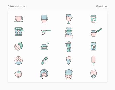 Free icon set - Coffeecons