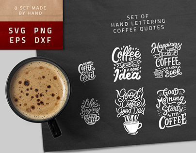 SVG Bundle - Lettering Coffee Quotes
