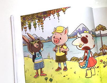 """Book Illustration """"Una granja que vale oro"""" - 2016"""