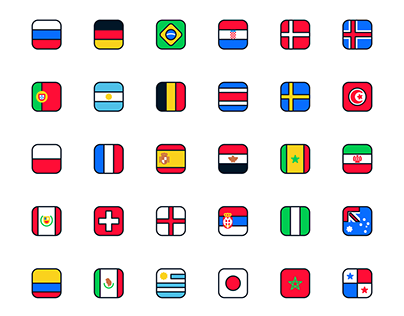 Russia World Cup - icons teams