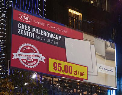 Set of billboard banners